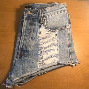 MINK PINK Jean shorts, size M
